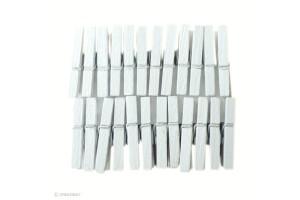 Mini pinces à linge Blanche x 24