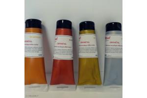 Peinture acrylique métallisée OBYMETAL 4 couleurs