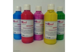 Peinture acrylique nacrée OBYNACREE 10 couleurs