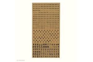 Planche de 375 stickers alphabet Kraft