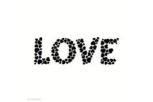 Tampon bois Love 8,5 x 2,7 cm