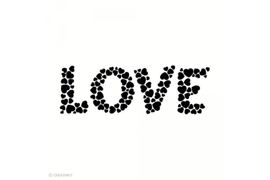 Tampon bois Cœurs Love 8,5x2,7cm arthf791 ARTEMIO