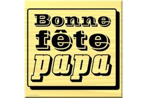 Tampon bois Bonne fête papa 4 x 3,5 cm