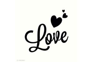 Mini tampon clear Love + bloc acrylique