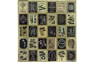 Planche de 32 timbres adhésifs Vintage