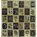 Planche de 32 timbres adhésifs Vintage 11004384 ARTEMIO